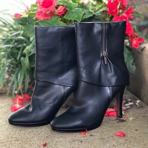 N by Nichole Miller Black Ankle Boots